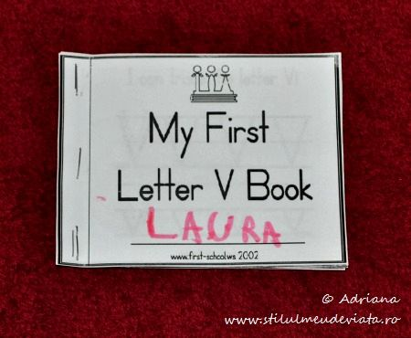 My First Letter V Book