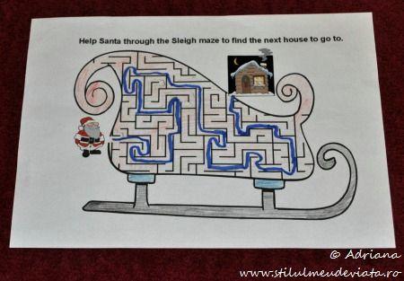 fisa labirint, sania lui Mos Craciun