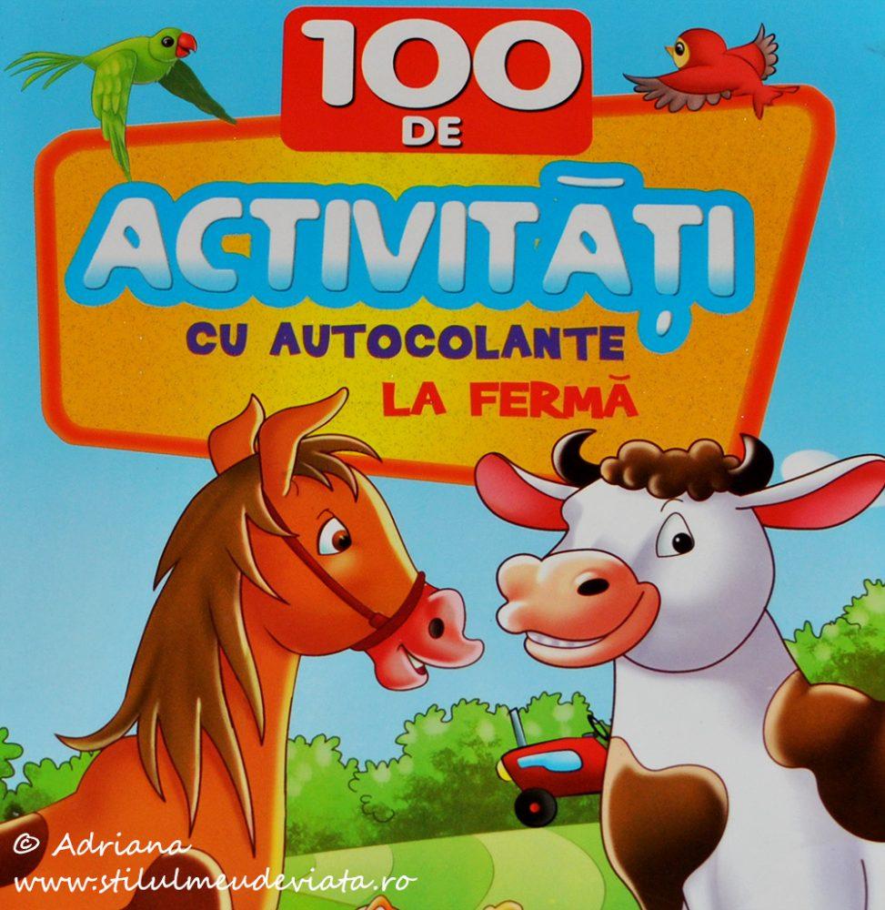 La fermă - 100 de activități cu autocolante