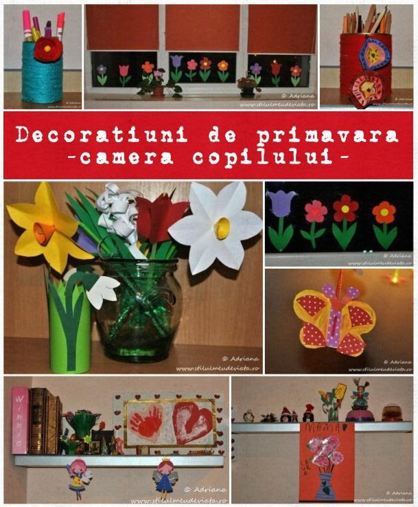 decoratiuni de primavara, camera copilului