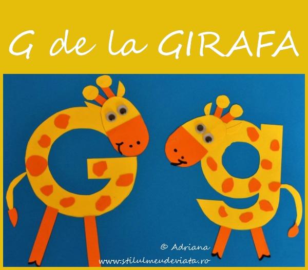 litera G de la GIRAFA