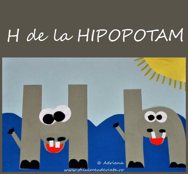 Litera H de la HIPOPOTAM
