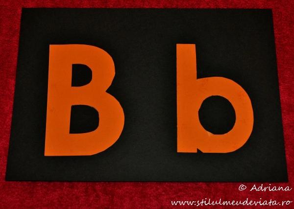 sabloane literele B mare, B mic