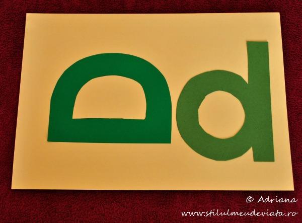 sabloane literele D mare, d mic