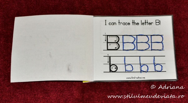 I can trace the letter B