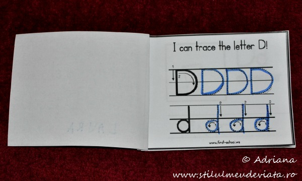 I can trace the letter D
