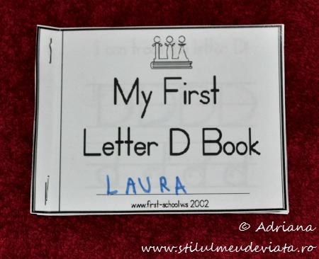 My First Letter D Book