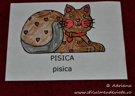 desen cu pisica
