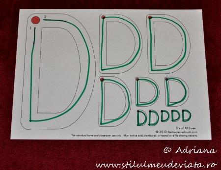 fisa trasare litera D