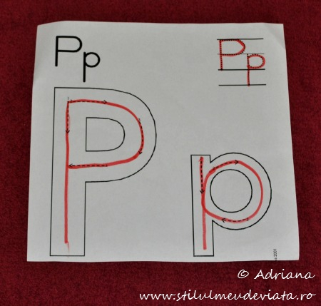 fisa trasare literele P mare, p mic