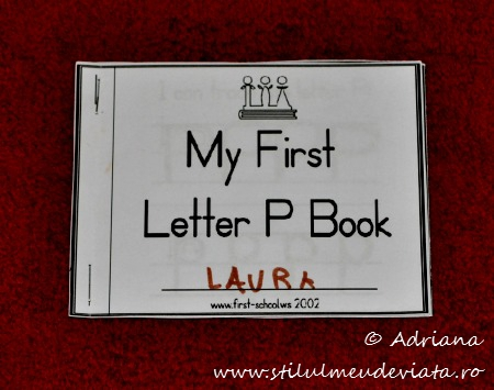 my first letter p book