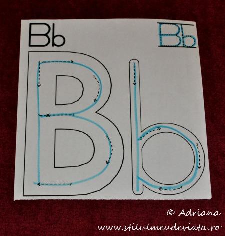 trasare litera B mare, b mic