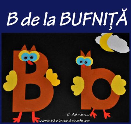 litera B de la BUFNIȚĂ - activitate practică