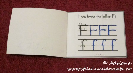 I can trace the letter F
