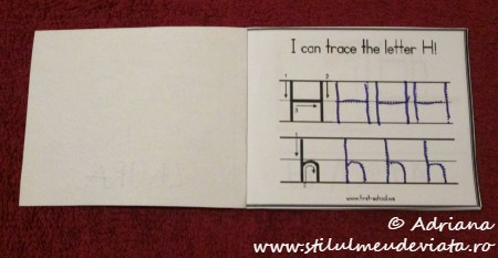 I can trace the letter H
