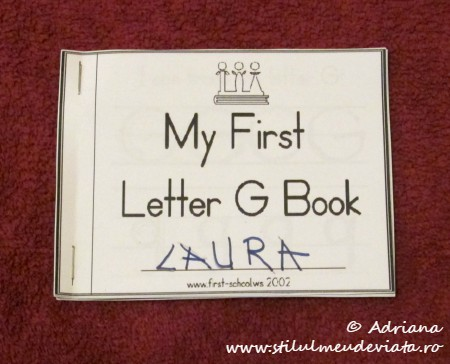 My First Letter G Book