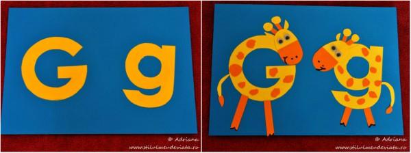litera G de la GIRAFA, colaj