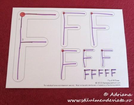 trasare litera F