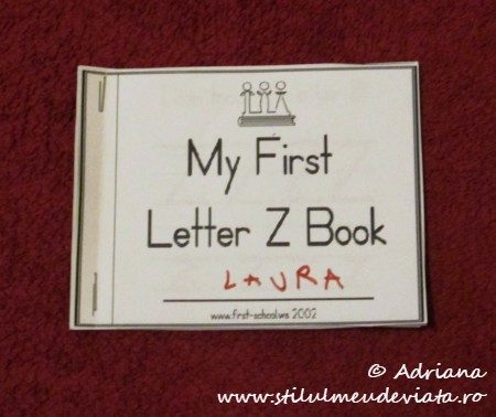 My First Letter Z Book