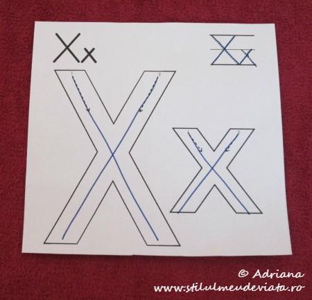 trasare X mare, x mic
