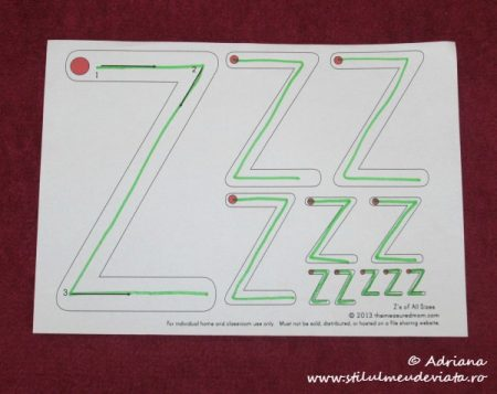 trasare litera Z