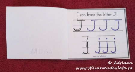 I can trace the letter J