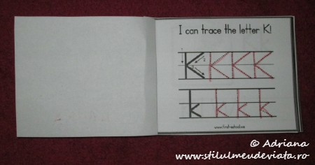 I can trace the letter K