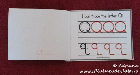 I can trace the letter Q