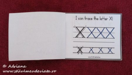 I can trace the letter X