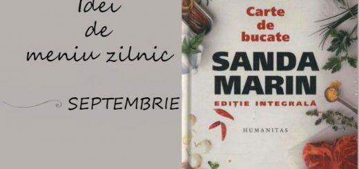 Idei de meniu zilnic pentru luna SEPTEMBRIE, Carte de bucate Sanada Marin