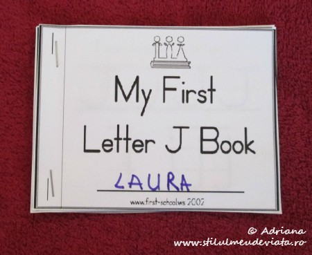 My First Letter J Book