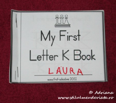 My First Letter K Book