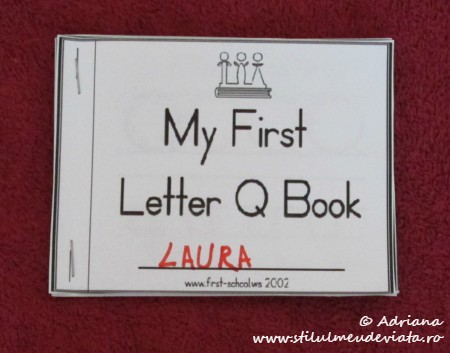 My First letter Q Book