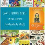 Carti pentru copii, noutati septembrie 2016