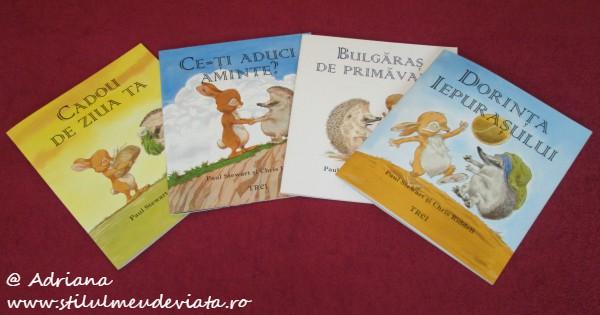 cartile cu Iepurasul si Ariciul, Editura Trei