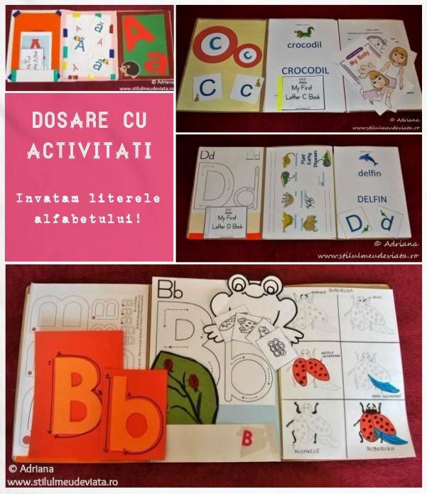 dosare cu activitati, invatam literele alfabetului