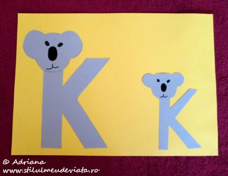 litera K de la KOALA