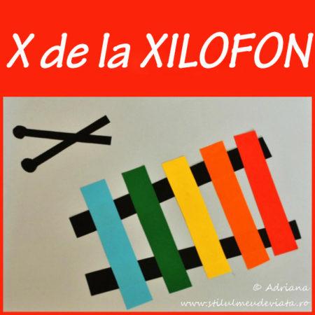 litera X de la XILOFON - activitate practică
