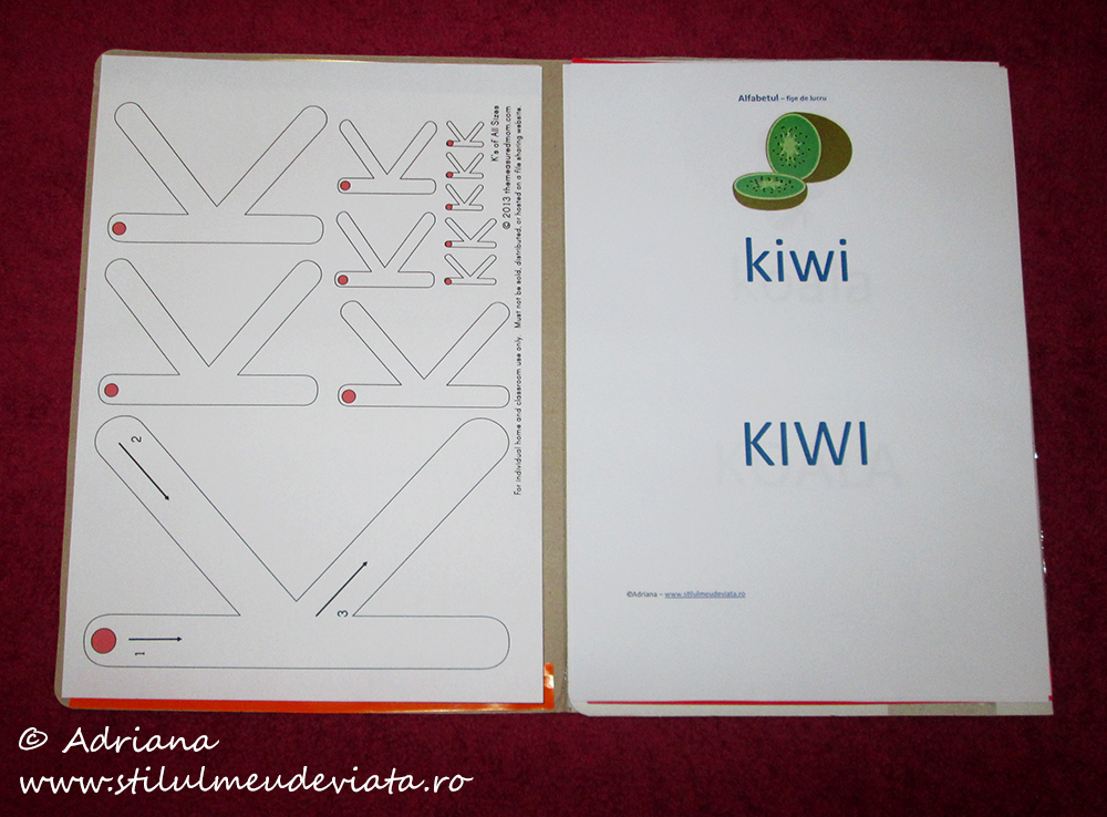 litera k, dosar cu activități