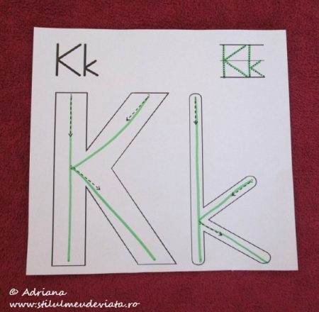 trasare K mare, K mic