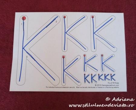 trasare litera K