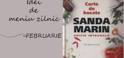 Idei de meniu zilnic pentru luna Februarie, cartea de bucate a Sandei Marin