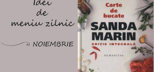 Idei de meniu din cartea Santei Marin, luna noiembrie