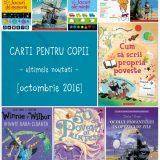 Carti pentru copii, noutati octombrie 2016
