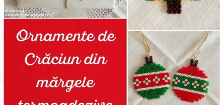 Ornamente de Crăciun din mărgele termoadezive