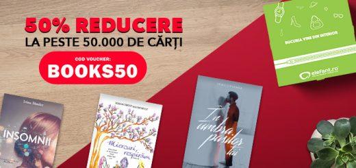 BOOKS50 - voucher 50% reducere la carti