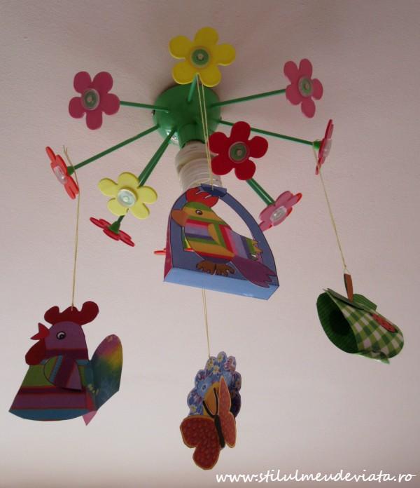 decoratiuni de primavara pentru lustra