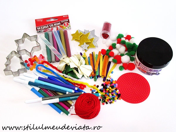 materiale pentru crafturi de Craciun