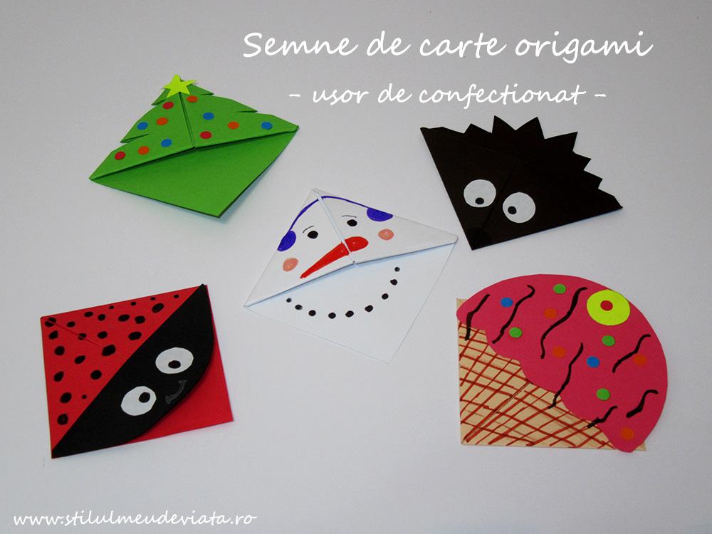 5 semne de carte origami ușor de confecționat