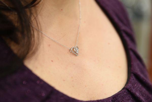 Colier din argint cu inimioară